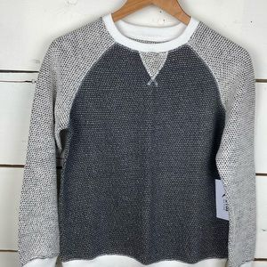 Zyia Gray Binary crew neck sweater XS